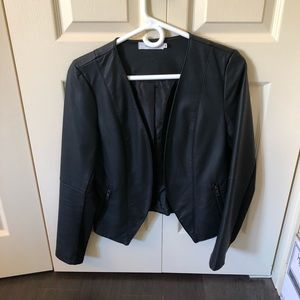 Pleather lined fitted Rickis blazer size medium